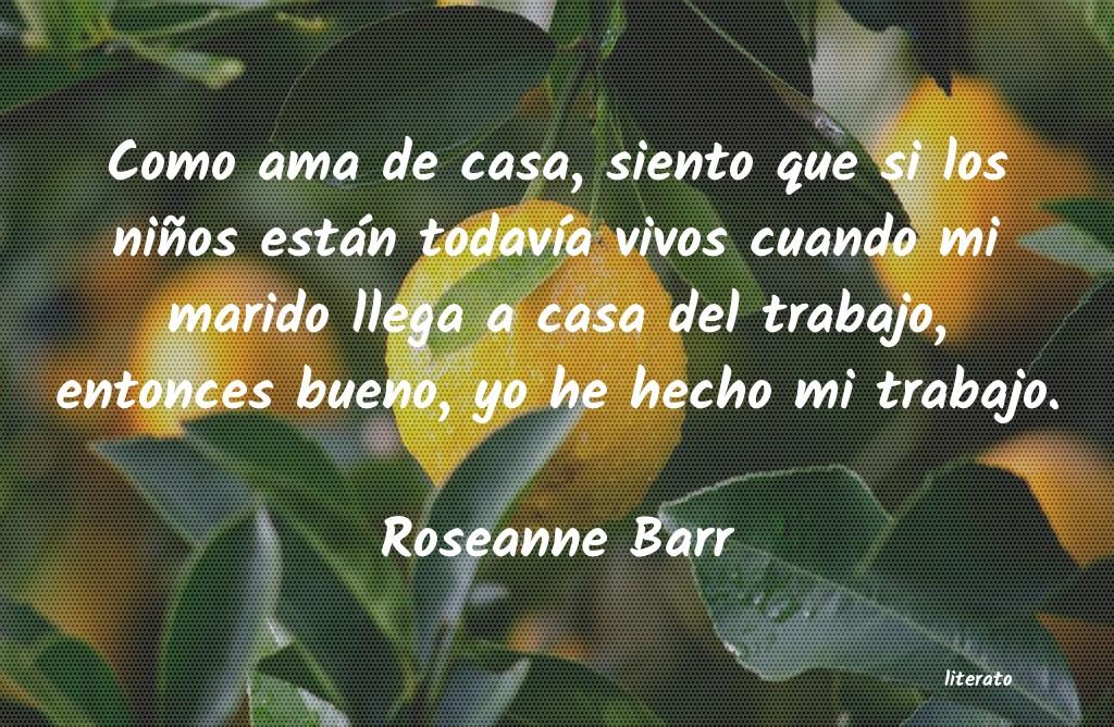 Roseanne Barr Como Ama De Casa Siento Que S