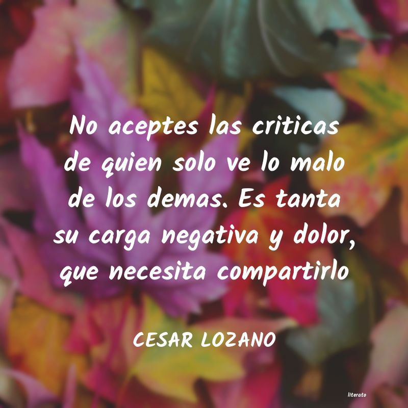 Cesar Lozano Literato