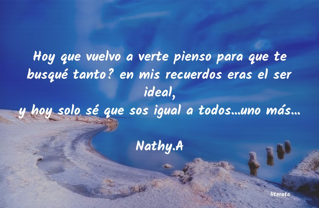 Nathya Hoy Que Vuelvo A Verte Pienso