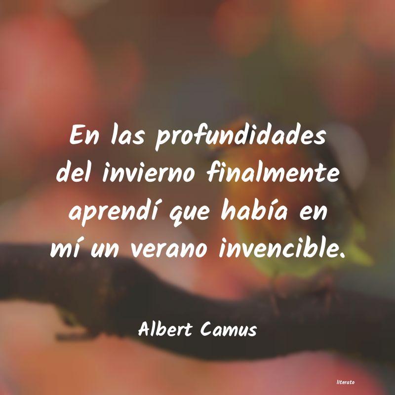 Albert Camus En Las Profundidades Del Invie