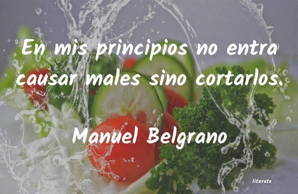 Manuel Belgrano En Mis Principios No Entra Cau