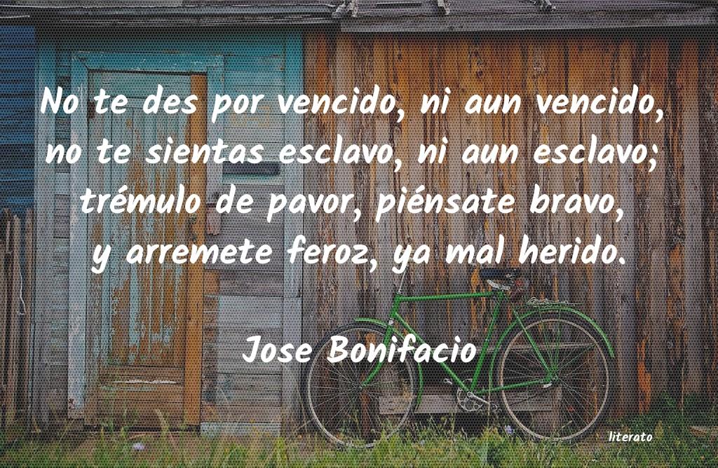 Jose Bonifacio No Te Des Por Vencido Ni Aun