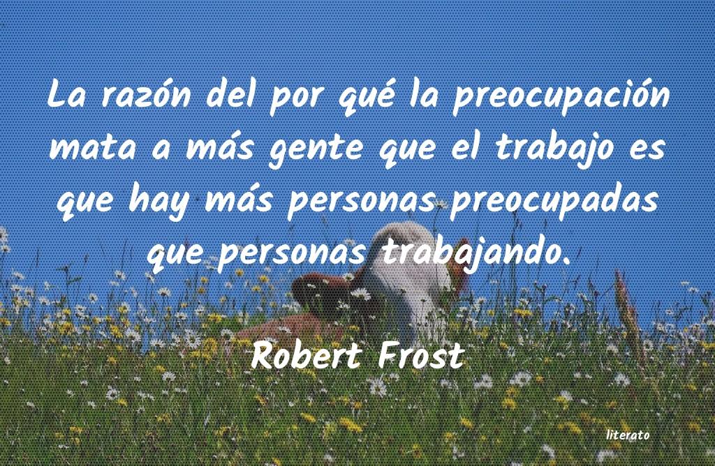 Robert Frost La Razón Del Por Qué La Preo