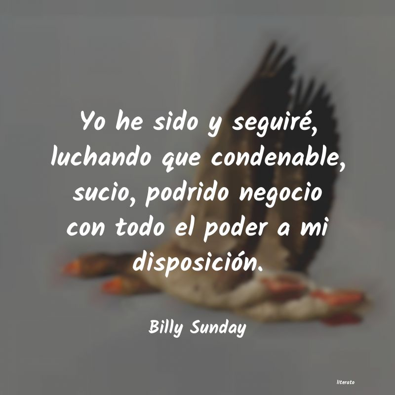 Frases de Billy Sunday