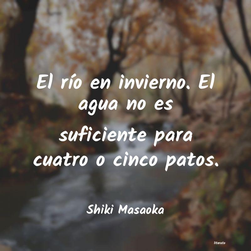 Shiki Masaoka El Río En Invierno El Agua N