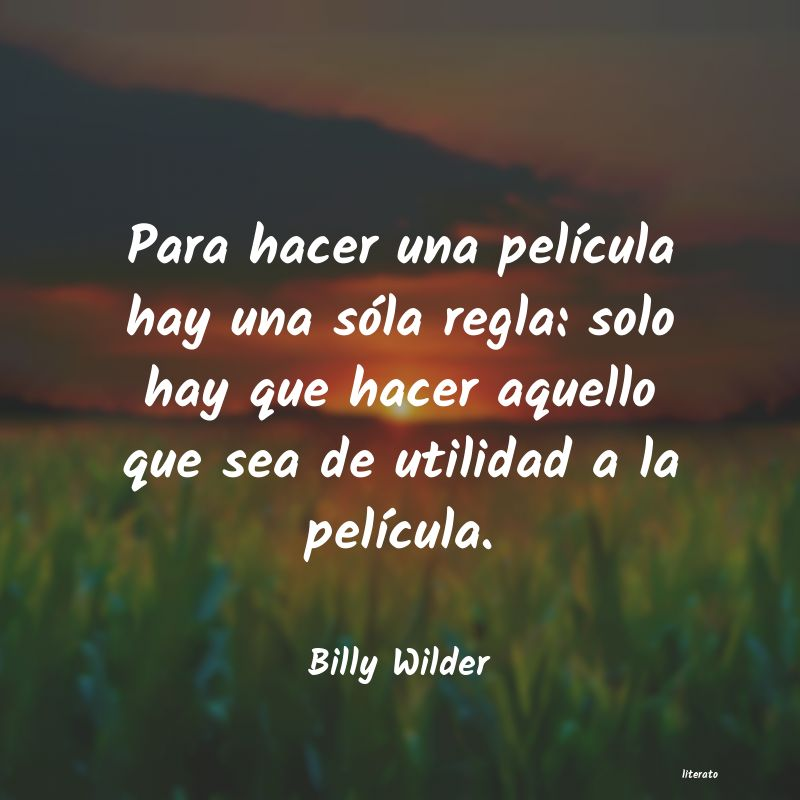 Frases de Billy Wilder