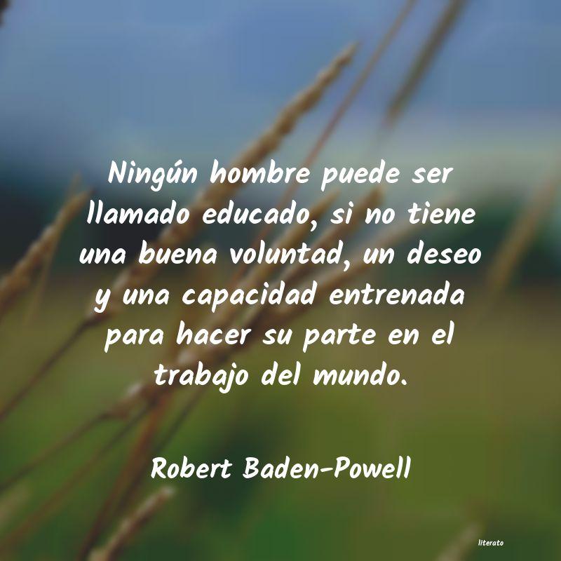Robert Baden Powell Ningún Hombre Puede Ser Llama