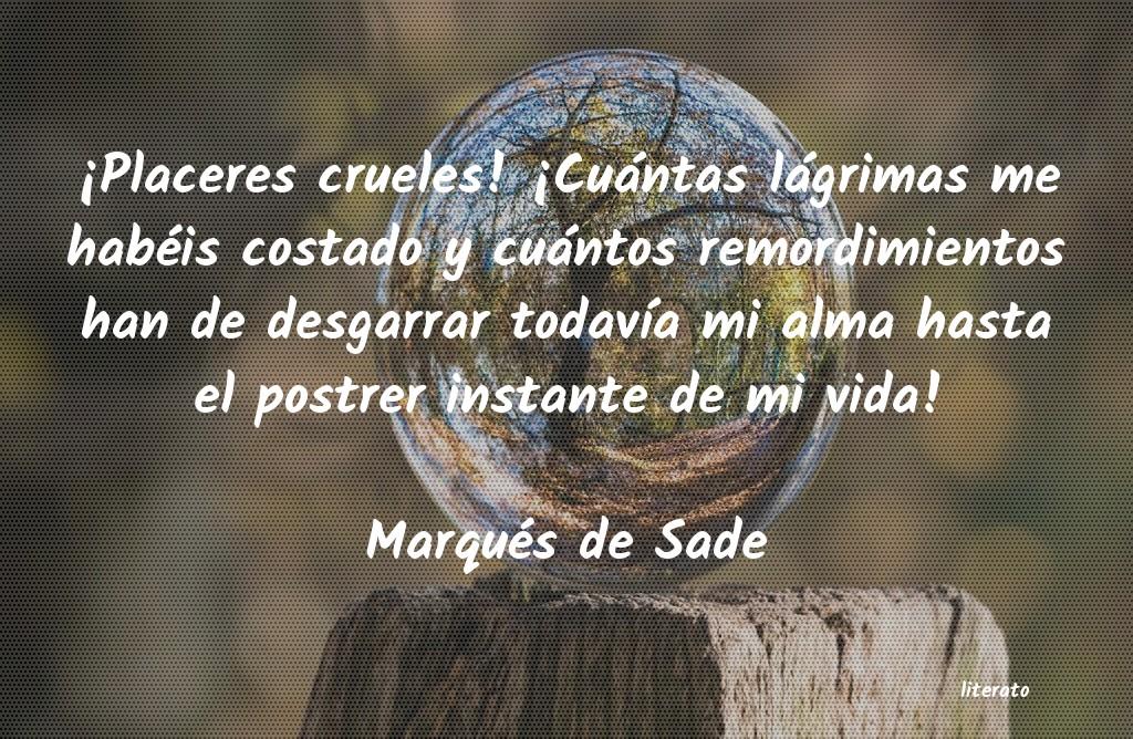 Marqués De Sade Placeres Crueles Cuántas