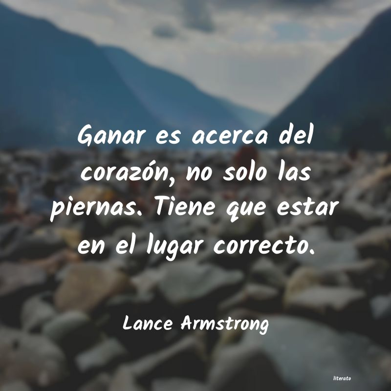 Frases de Lance Armstrong