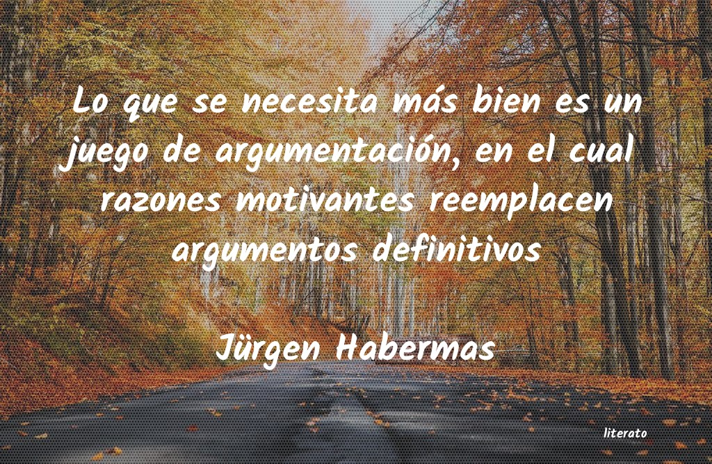 Jürgen Habermas: Lo que se necesita más bien e