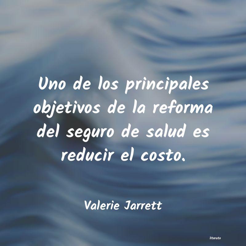Valerie Jarrett Uno De Los Principales Objetiv
