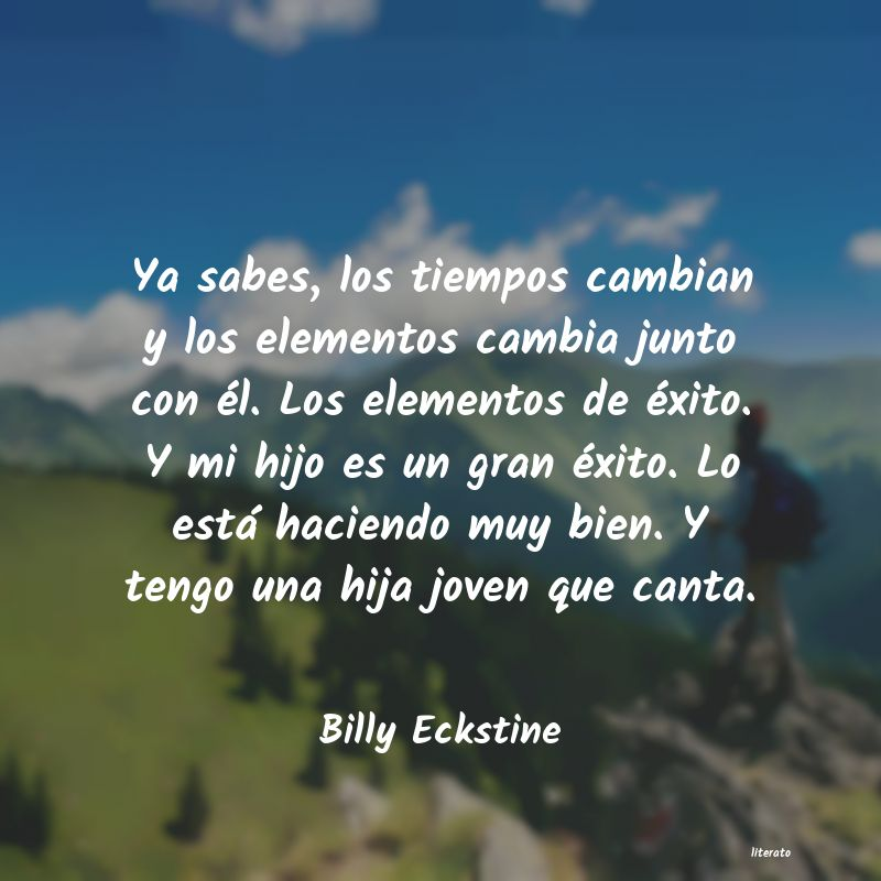 Frases de Billy Eckstine