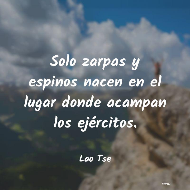 Lao Tse Solo Zarpas Y Espinos Nacen En