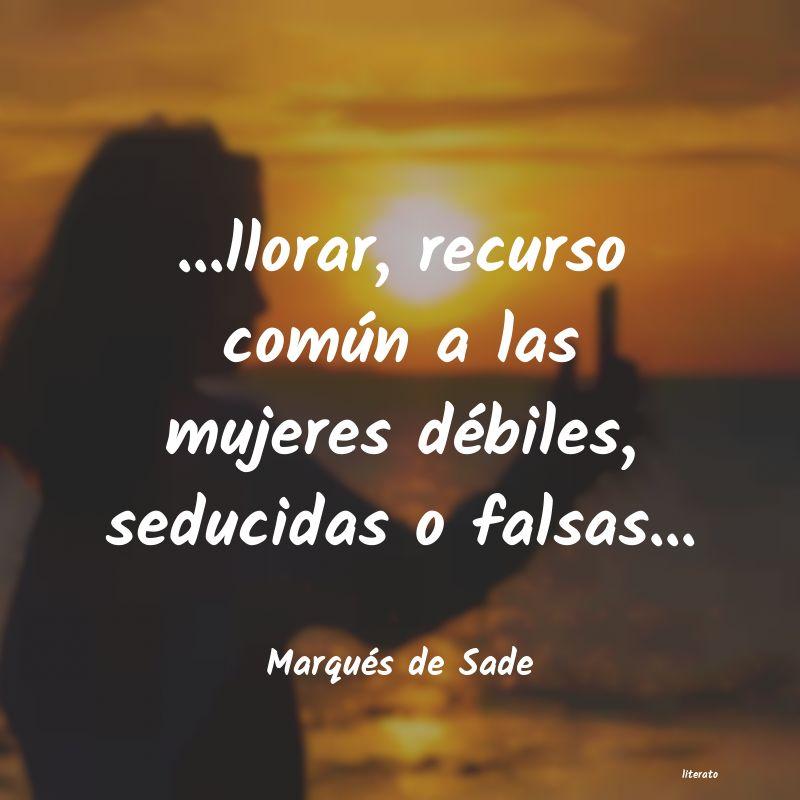 Frases Del Marques De Sade Literato