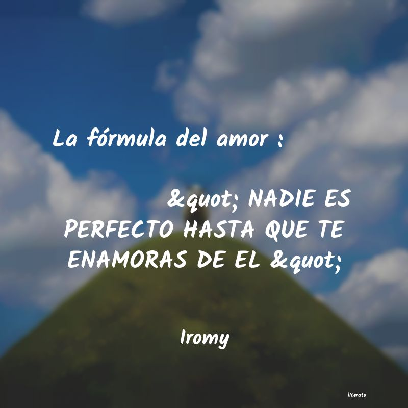 Iromy La Fórmula Del Amor