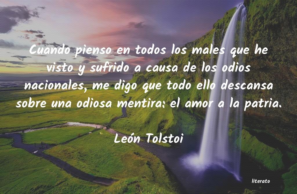 León Tolstoi Cuando Pienso En Todos Los Mal