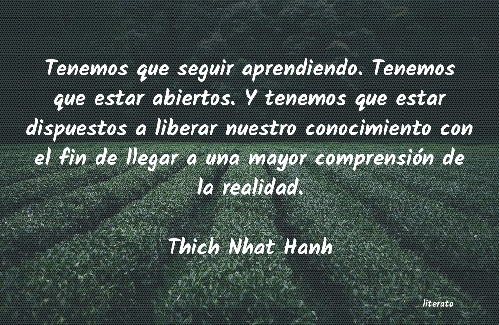 Frases de Thich Nhat Hanh