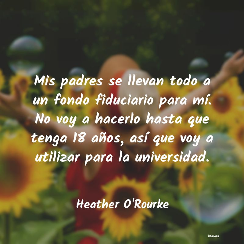 Frases de Heather O'Rourke