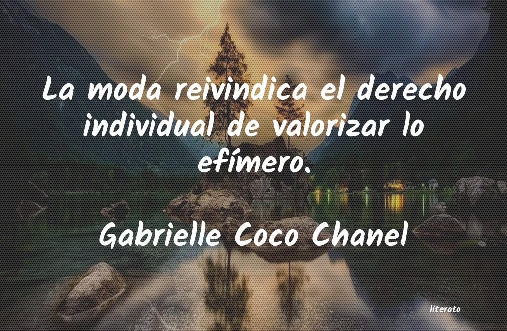 Frases Moda Coco Chanel Literato